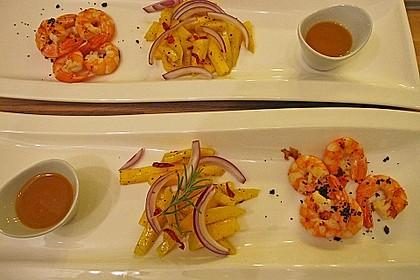 Gegrillte Riesengarnelen mit Salat von sauren Mangos 2