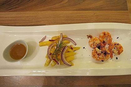 Gegrillte Riesengarnelen mit Salat von sauren Mangos 1
