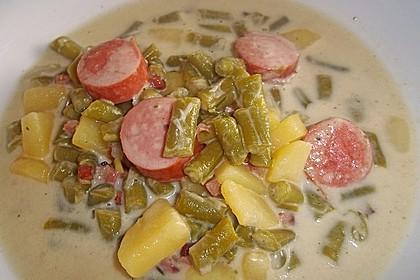 Schnippelbohnen - Suppe 4