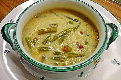 Schnippelbohnen - Suppe 1