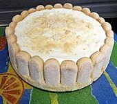 Philadelphia Torte mit Mandarinen und Löffelbiskuits (Bild)