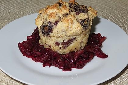 Blutwurstpudding mit Brombeer - Zwiebel - Marmelade (Bild)