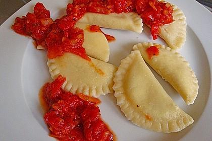 Ricotta - Basilikum Teigtaschen oder Ravioli 1
