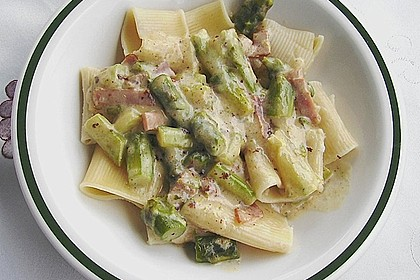 Paccheri con asparago verde 1