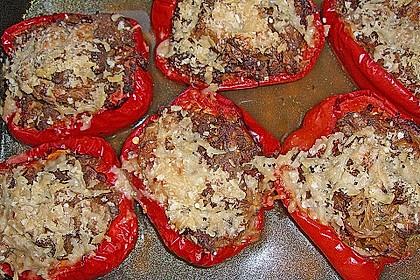Paprika gefüllt mit Hack und Sauerkraut 2