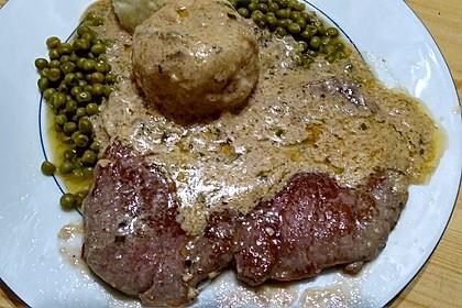 Brittas Rindersteak mit Käse - Sauce 12