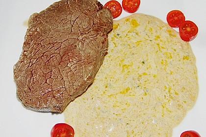 Brittas Rindersteak mit Käse - Sauce 14