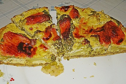 Brokkoli - Lachs - Quiche 5