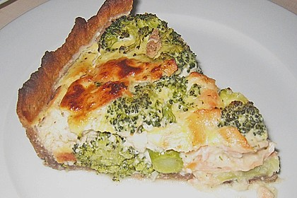 Brokkoli - Lachs - Quiche 3