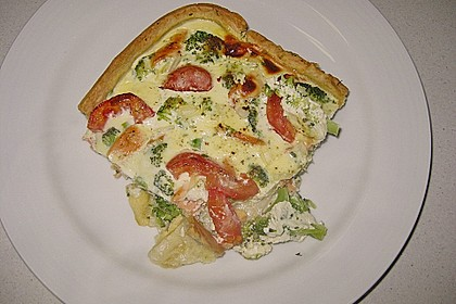 Brokkoli - Lachs - Quiche 6