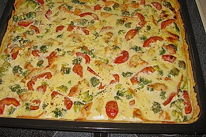 Brokkoli - Lachs - Quiche 2