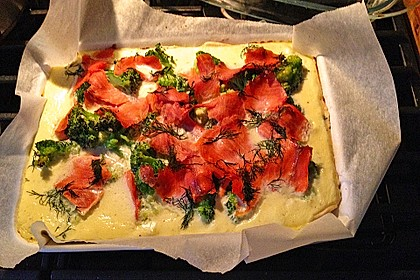 Brokkoli - Lachs - Quiche 15