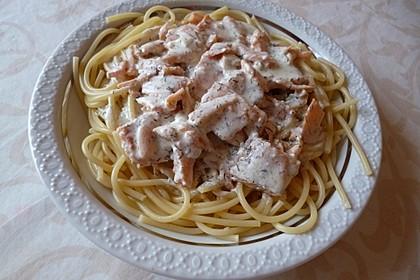 Spaghetti mit Räucherlachs 2