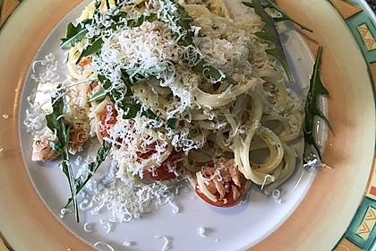 Spaghetti mit Räucherlachs 4