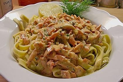 Spaghetti mit Räucherlachs 1