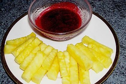 Ananas - Fritten mit Himbeer - Ketchup 12