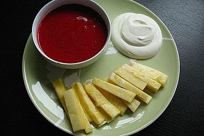 Ananas - Fritten mit Himbeer - Ketchup 11