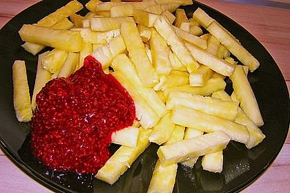 Ananas - Fritten mit Himbeer - Ketchup 10