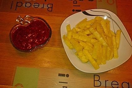 Ananas - Fritten mit Himbeer - Ketchup 23