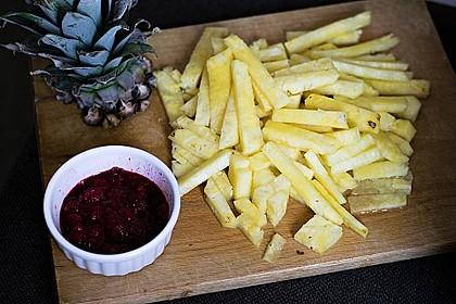 Ananas - Fritten mit Himbeer - Ketchup 2