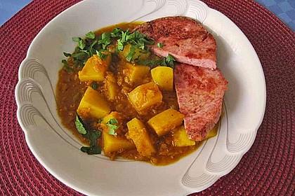 Kartoffel-Curry mit Linsen 2