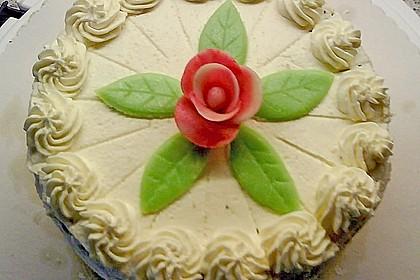 Marzipantorte mit White - Chocolate - Cream Füllung 15