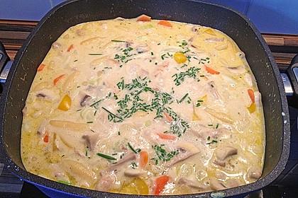 Schupfnudelpfanne mit Gemüse und Hähnchen 3