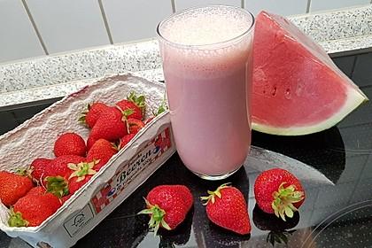 Erdbeer - Melone - Shake (Bild)