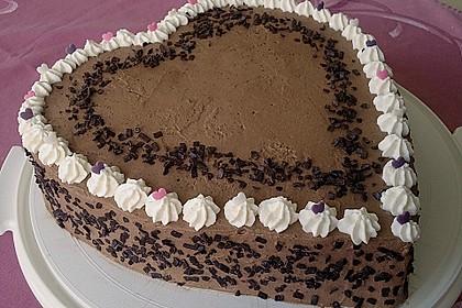 Gemischtes Obst auf Schokoladensahne 1
