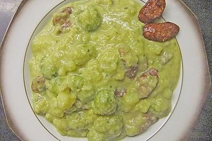 Rosenkohlsuppe mit Cabanossi und Basilikum 5