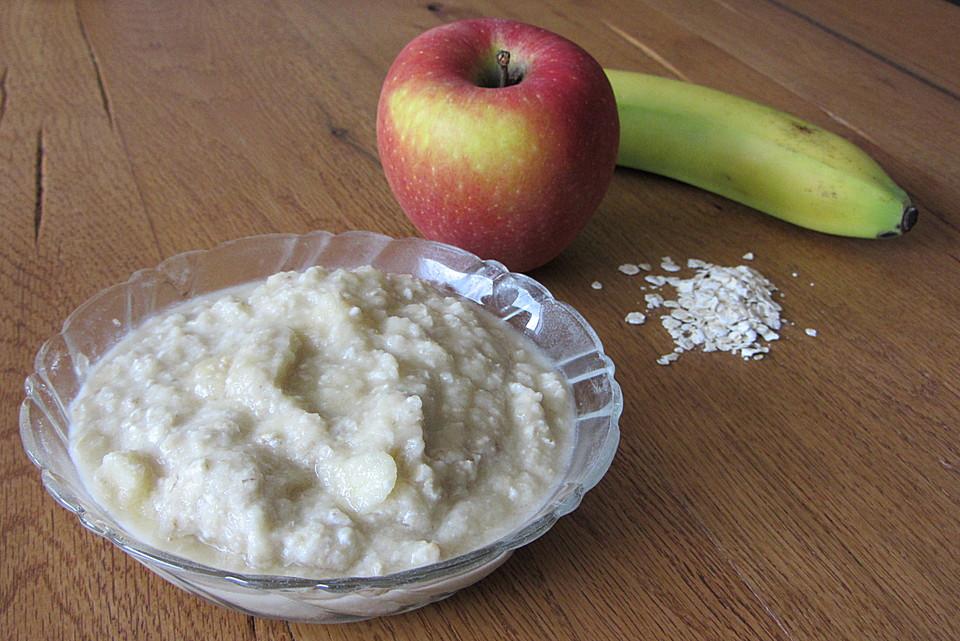 Apfel Banane Haferflocken Brei Von Hagela Chefkoch De