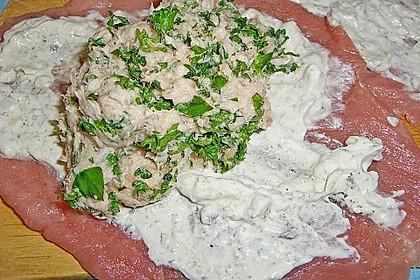 Schweineroulade mit Kräuter - Quark - Brät 2