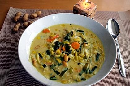 Afrikanische Erdnuss - Lauch - Suppe