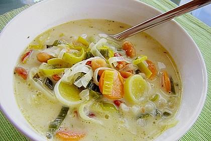 Afrikanische Erdnuss - Lauch - Suppe 1