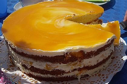 Pfirsich - Philadelphia - Torte 1