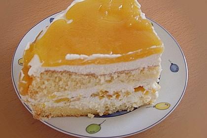 Pfirsich - Philadelphia - Torte 4