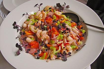 Shrimps - Papaya - Salat