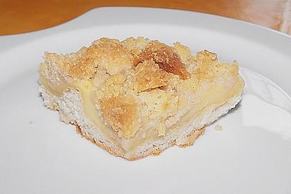 Hefekuchen vom Blech mit Pudding und Streuseln 20