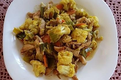 Gemüse - Hähnchencurry 3