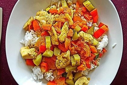 Gemüse - Hähnchencurry 4