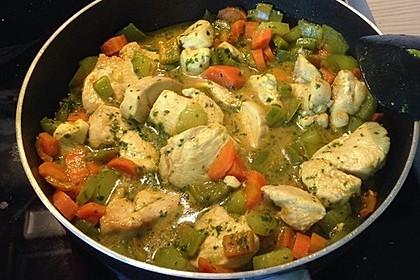 Gemüse - Hähnchencurry 1