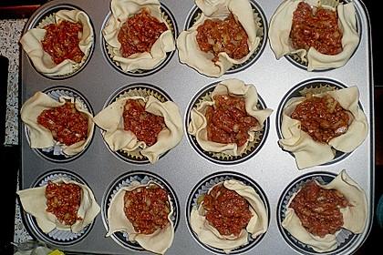 Herzhafte Blätterteig - Gehacktes - Muffins 13