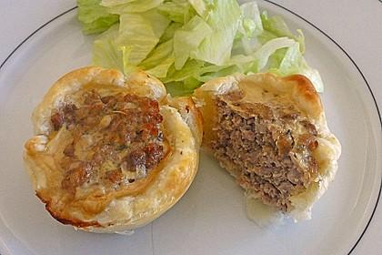 Herzhafte Blätterteig - Gehacktes - Muffins 2