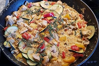 Mediterrane Gemüsepfanne mit Hähnchenbrustfilet 2