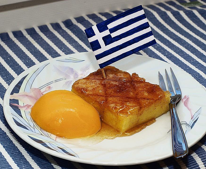 Galaktoboureko - griechischer Grießauflauf