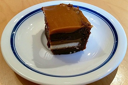 Twix White - Brownies mit Rahmkaramell - Topping (Bild)