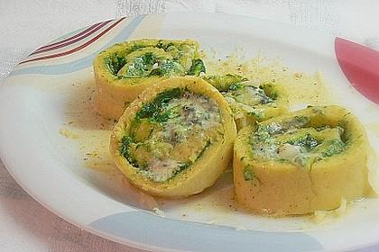 Kartoffel-Bärlauchroulade mit Gorgonzolafülle 1