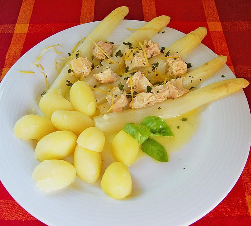 Spargel Mit Lachs Und Zitronenbutter Von Reise Tiger Chefkoch