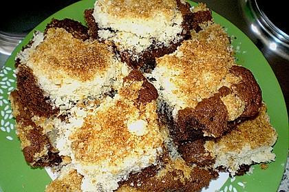 Brownies mit versunkenen Kokosstreuseln 5