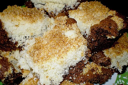 Brownies mit versunkenen Kokosstreuseln 4